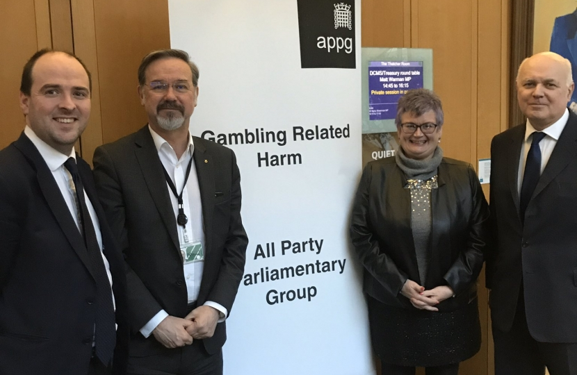 Richard Holden at the Gambling Related Harm APPG