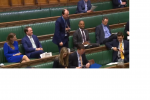 Richard Holden asks about bus services in Parliament