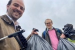 Richard and Doug on the A692 litterpick